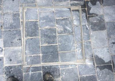 Réalisation d'une terrasse en pavé Bluestone du Vietnam 20x20x2.5